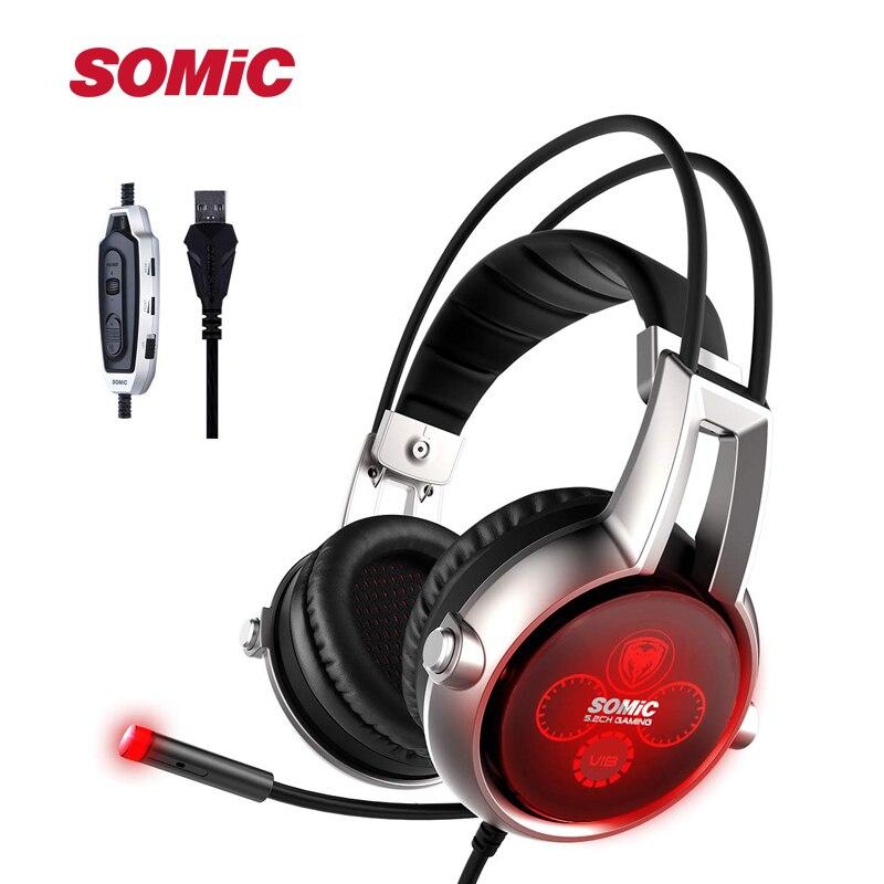 Somic E95X 5.2 fizyczne wielokanałową wibracji zestaw słuchawkowy do gier słuchawki z redukcją hałasu z mikrofonem do PS4 gra FPS w Słuchawki/zestawy słuchawkowe od Elektronika użytkowa na  Grupa 1