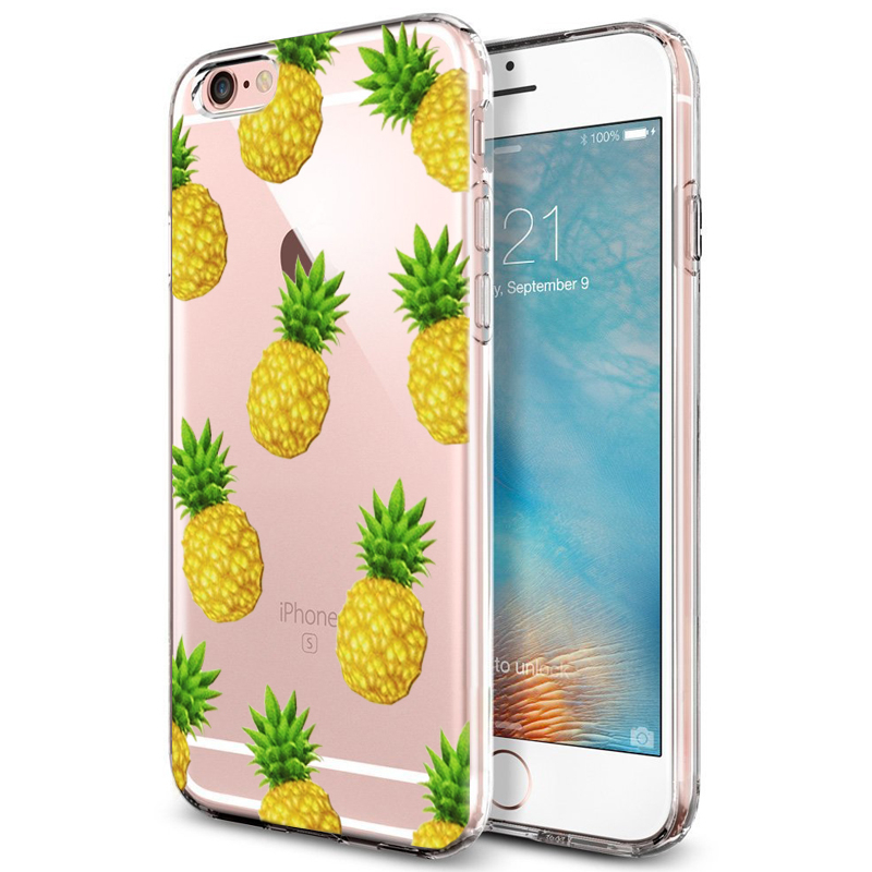 coque iphone 7 plus silicone ananas