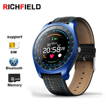 Купить с кэшбэком RICHFIELD V10 Smart Watch Men Wristwatch Sim Heart Rate initor Fitness Bracelet Activity Tracker Smartwatch for Android Phone