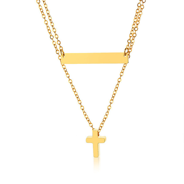 Modyle Gold Color Cross...