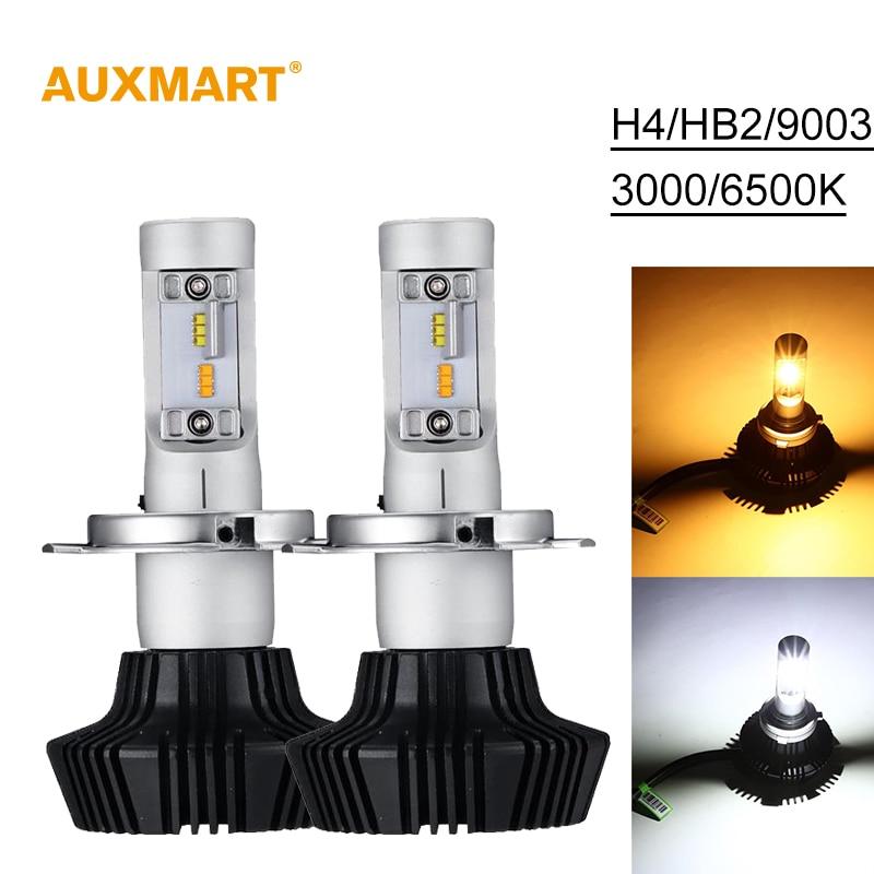 ФОТО Auxmart 7HL Car Headlights H4 LED HB2 9003 50W 4000LM Auto Front Bulb Single Beam Automobile Headlamp 3000K 6500K Car Lighting