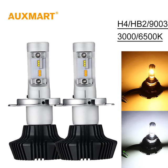 Auxmart 7HL Car Headlights H4 LED HB2 9003 50W 4000LM Auto Front Bulb Single Beam Automobile Headlamp 3000K 6500K Car Lighting
