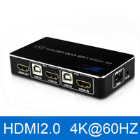 Portas USB Switch kvm HDMI 4 2 K @ 60Hz RGB/YUV 4:4:4 2 HDR HDMI 2.0 Switcher X 1 Suporte Teclado e Mouse de Impressora|Cabos HDMI| |  -