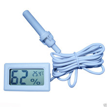 Mini LCD Digital Thermometer Hygrometer Temperature Indoor / Outdoor Temperature Sensor Humidity Meter Gauge Instruments Cable