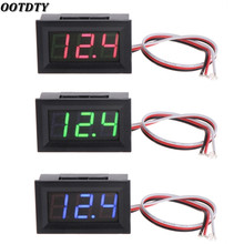 OOTDTY Mini Voltmeter Tester Digital Voltage Test Battery DC 0-30V Red/Blue/Green Auto Car