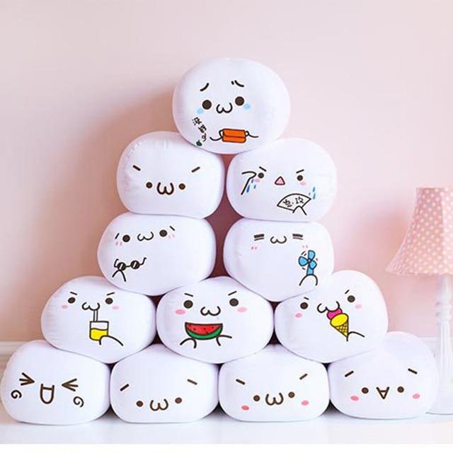 Soft Emoji Smiley Emoticon White Round Emoji Pillow Cushion Stuffed Plush Toy Doll 7 Styles Valentine's Day Present A
