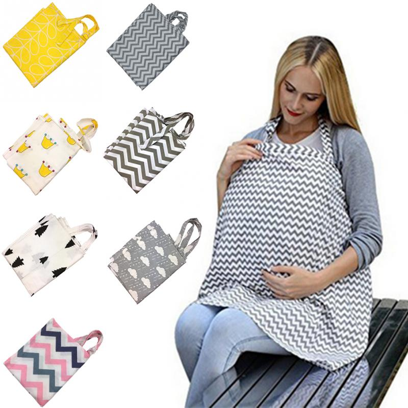 Breathable Mother Breastfeeding Baby Nursing Cover Cotton Adjustable Neckline Cover Mother Outdoor Shawl Feeding Privacy Apron