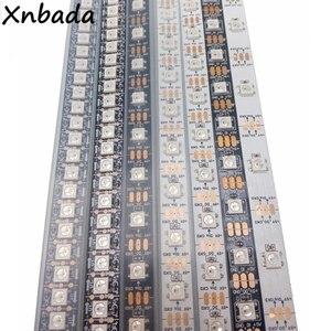 1 m 2 m 3 m 4 m 5 m WS2812B WS2812 Led قطاع ، فردي عنونة الذكية RGB Led قطاع ، الأسود/الأبيض PCB للماء IP30/65/67 DC5V