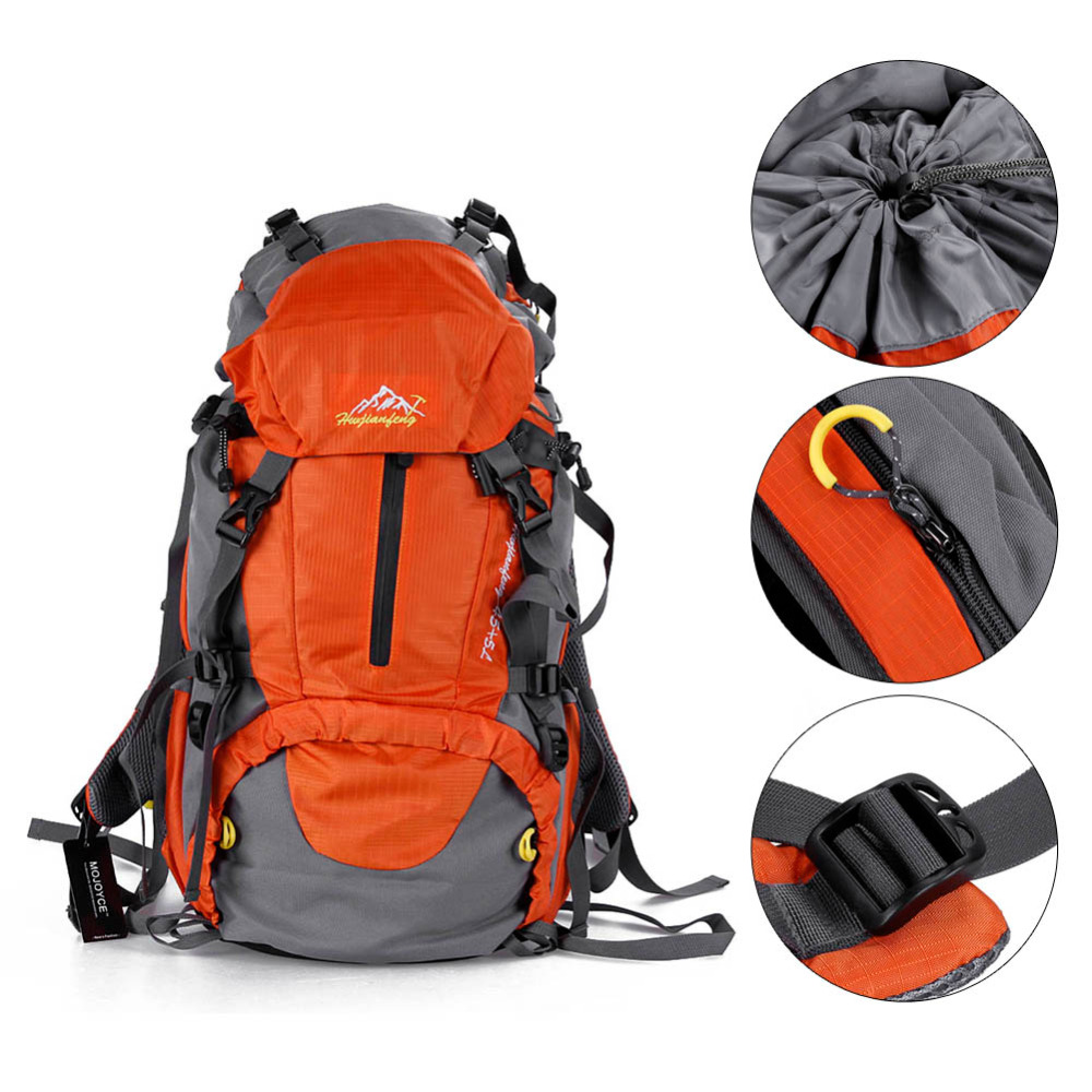 50L Large Waterproof Hiking Backpack Men and Women Outdoor Camping Travel Bags Pack Climbing Backpack Knapsack with Rain Cover quality innovation bicycle infantry pack 14 6 inch waterproof and scratch resistant outdoor leisure men and women bike backpack