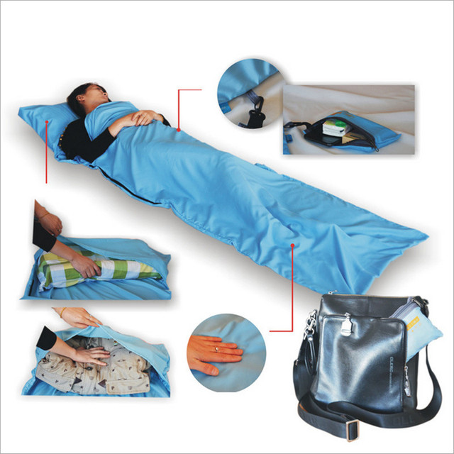 Outdoor Pongee Sleeping Bag 210X70cm Travel Individual Sleeping Bag Isolated Dirty Things In The Hotel SP002