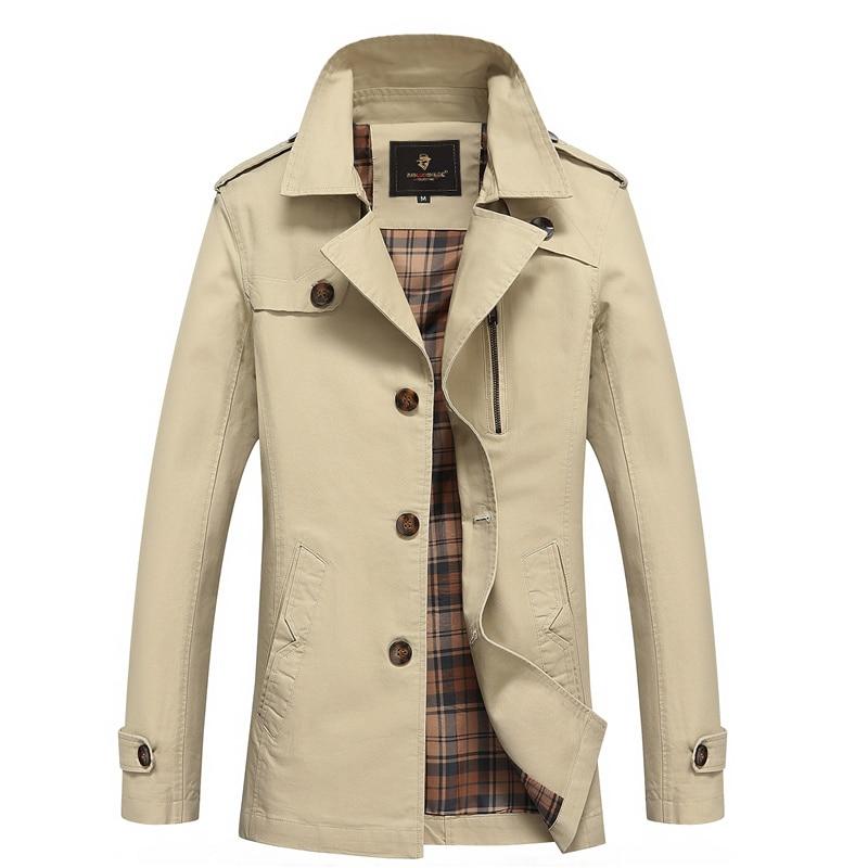 Spring and Summer Long Black Trench Coat Men Luxury British ...