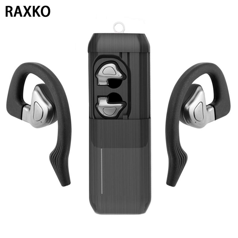 RETOKO TWS Vrai Écouteurs Mini Auriculaire Sport écouteurs bluetooth sans fil Écouteur Écouteur casque pour iphone X Samsung