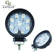 """Gzkafolee 4.3 """"27 W LED Light Work Flood Driving Lâmpada Circular para Reboque Do Caminhão SUV Off Road Barco Carro 12 V 24 V 4WD"""