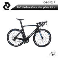 Full Carbon Road Frame 2018 T800 Speed 22 UD Complete Road Bicycle With Poweway R36 Wheels