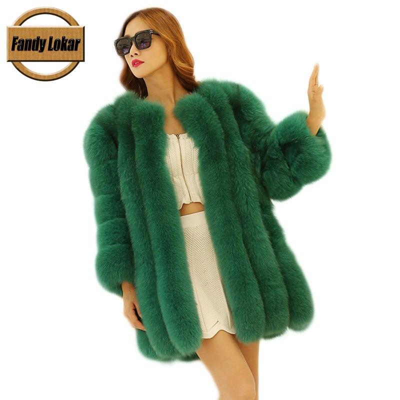 Professional Sale Women Lambs Wool Coat Winter Shearling Coats Faux Suede Leather Jacket Gradual Color Long Thicken Warm Outerwear Casual Overcoat Faux Fur