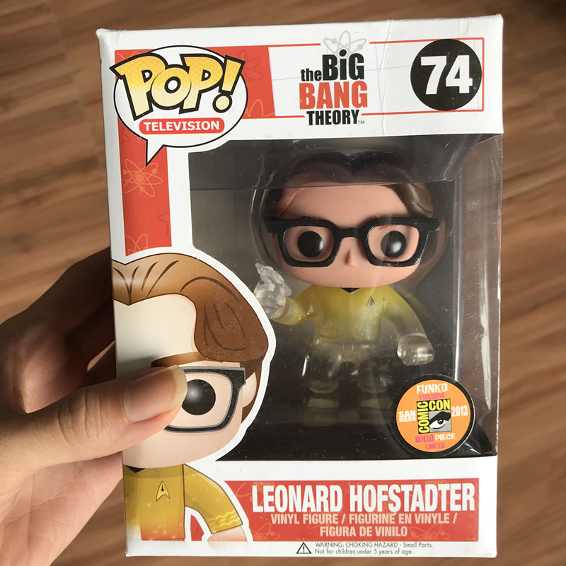 купить 2013 SDCC Exclusive Funko pop Official Big Bang Theory - Leonard Hofstadter Star Trek Vinyl Action Figure Collectible Model Toy по цене 4144.68 рублей