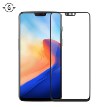 цена на 3D Full Cover Curved 1+6 Oneplus6 Tempered Glass Screen Protector for Oneplus 6 Glass Whole Screen Protective film Black White