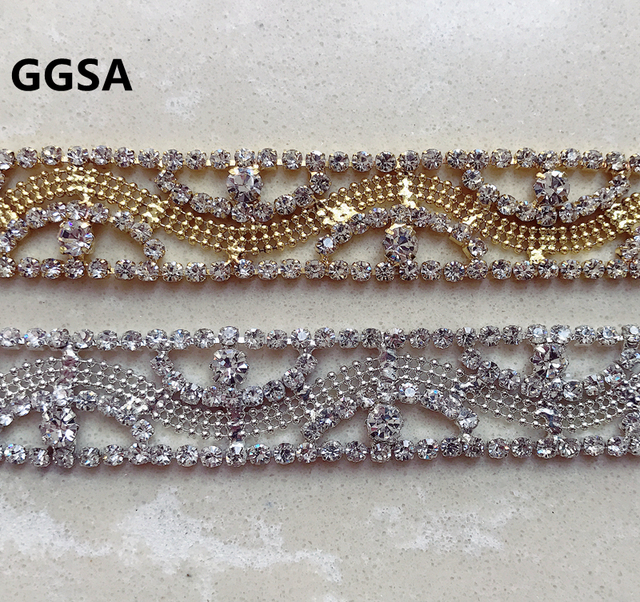 1 Yard Vintage Czech crystal chain rhinestone cup chain Pearl Trim  Furniture Browband Wedding Dress DIY Accessory Decoration 2ec070cde358