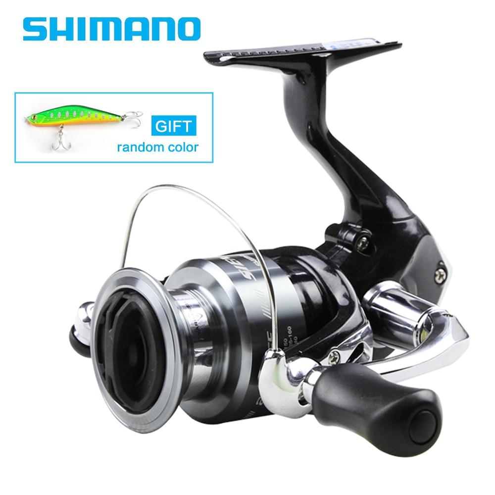 цена на Shimano Original Sienna FE 1000 2500 4000 Spinning Reel With Free Lure Fishing Reels 5.2:1 Saltewater Carp Fishing Reel 1+1BB