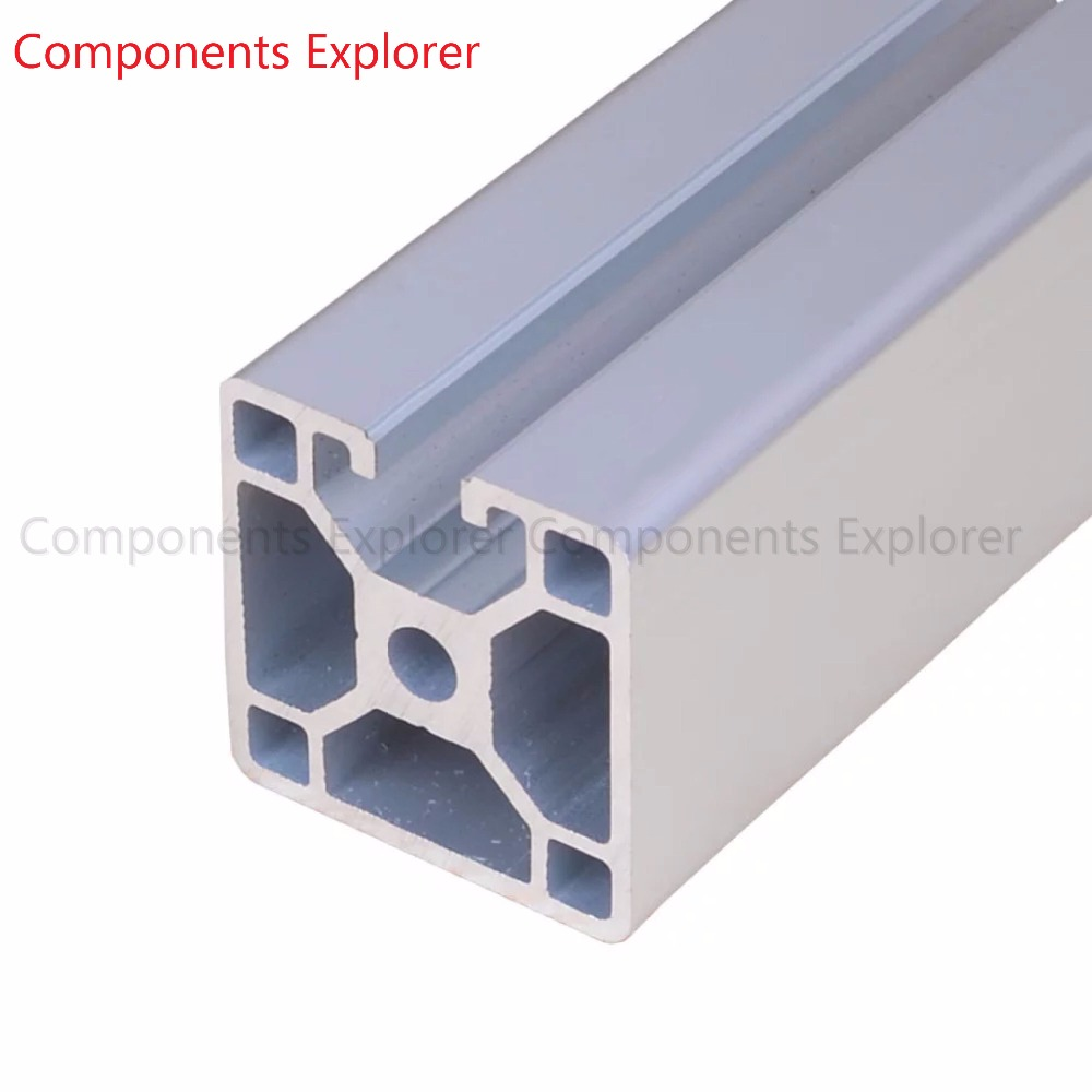Arbitrary Cutting 1000mm 4040 Three Edges Aluminum Extrusion Profile,Silvery Color.