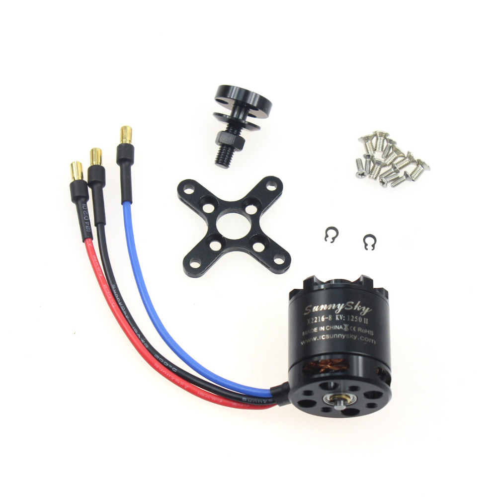 F08537 SunnySky X2216 1250KV Brushless Motor for Large Fixed Wing Aircraft Quadcopter Hexcopter+freeshipment купить