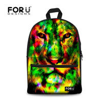 Fashion Kids Backpack Animal Lion Print Children Backpack for Girls Cool Woman School Rucksack Casual Daypack High Quality