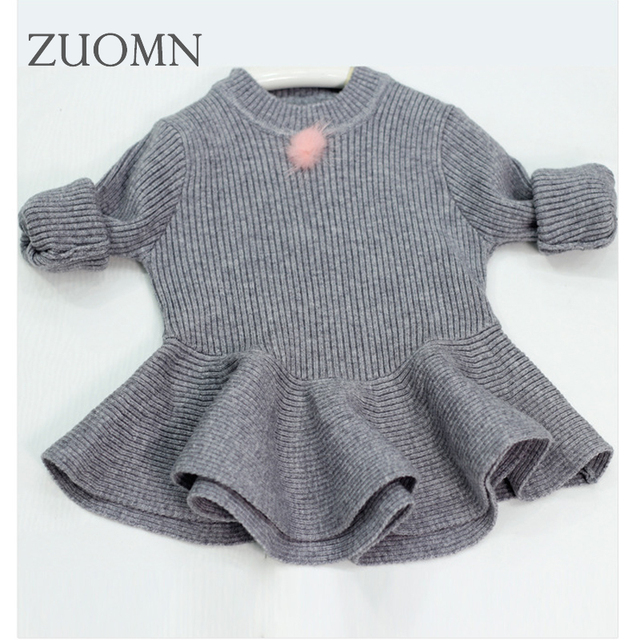 a9b57c50c Baby girl knitted sweater kids knitting shirt clothes for babygirls ...