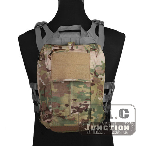 Emerson Tactical Backpack Zip-on Panel EmersonGear Plate Carrier Pouch for CPC NCPC JPC 2.0 AVS Vest Multicam