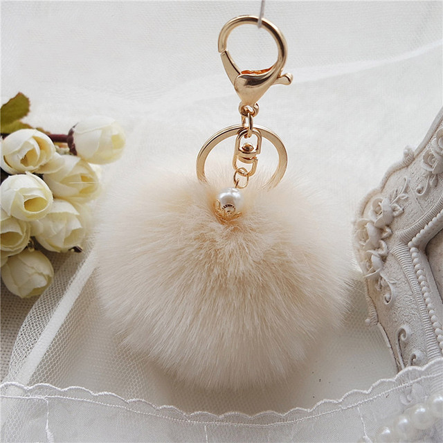 Plush Ball Keychain