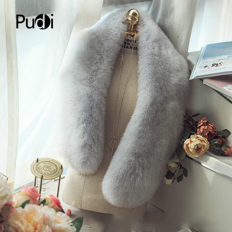 SCM069 Women winter real fox fur   scarf   whole piece genuine fox fur   scarves     wraps   band new warm shawl