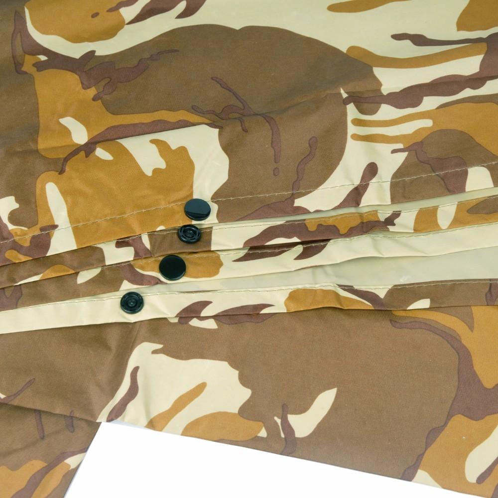 Sõjaväemustrilised vihmamantlid kapuutsiga