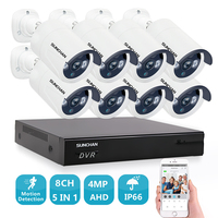8 Channel 4 0MP HD CCTV Surveillance Kit 4MP Security Camera System 8ch DVR 2K Video
