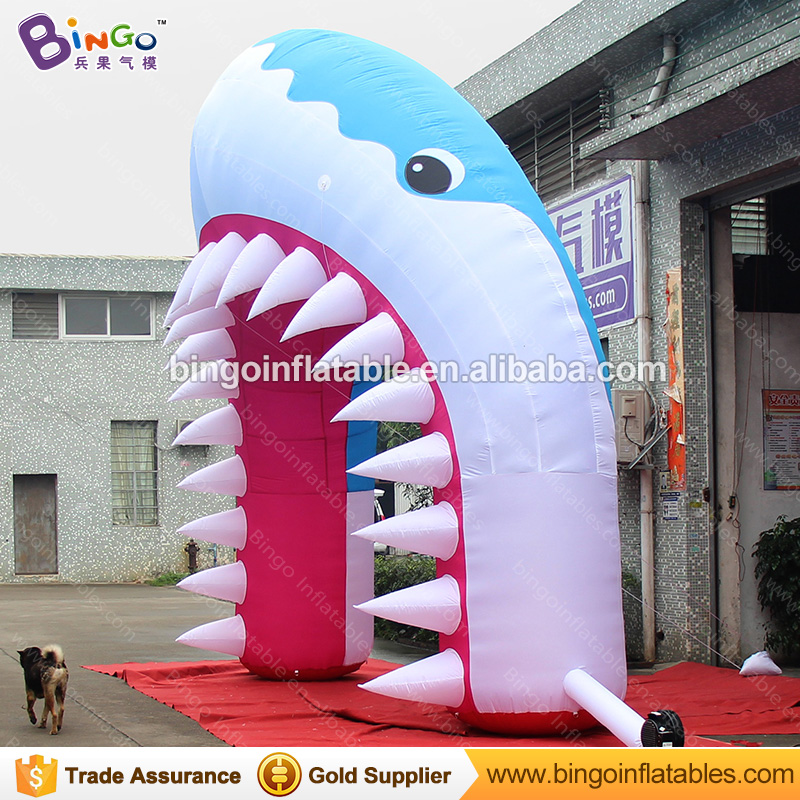 2f259ef6f0 Free shipping 5.4X5 M inflatable shark arch for marine theme park hot sale  blow up shark arch for stage decoration toy arch-in Inflatable Bouncers  from Toys ...