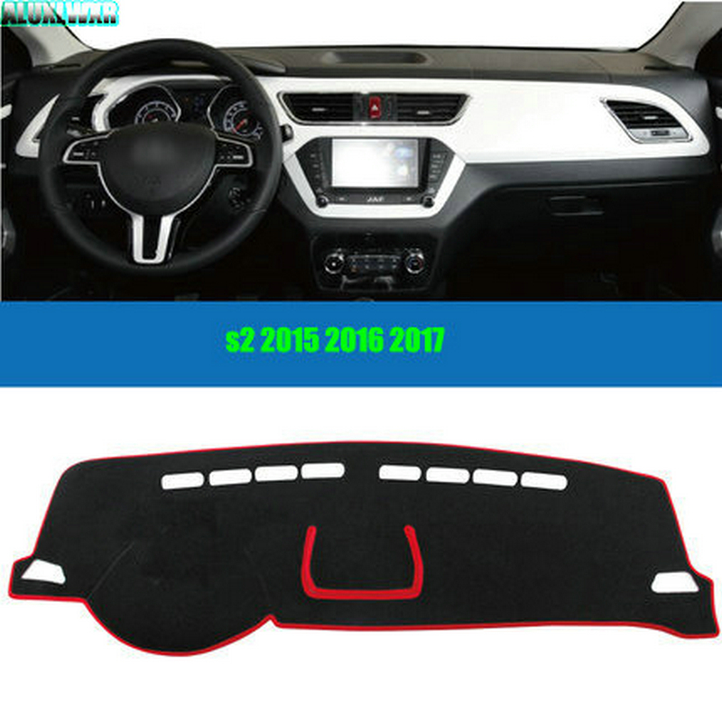 Car dashboard Avoid light pad Instrument platform desk cover Mats Carpets Auto accessories For JAC S2 2015 2016 2017 car-styling