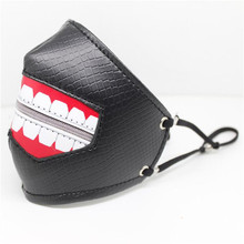 Hot New Anime Tokyo Ghoul Mask Kaneki Ken Cosplay Costumes Accessories Terror Zipper Exaggerated Personality Fashion Black Mask все цены