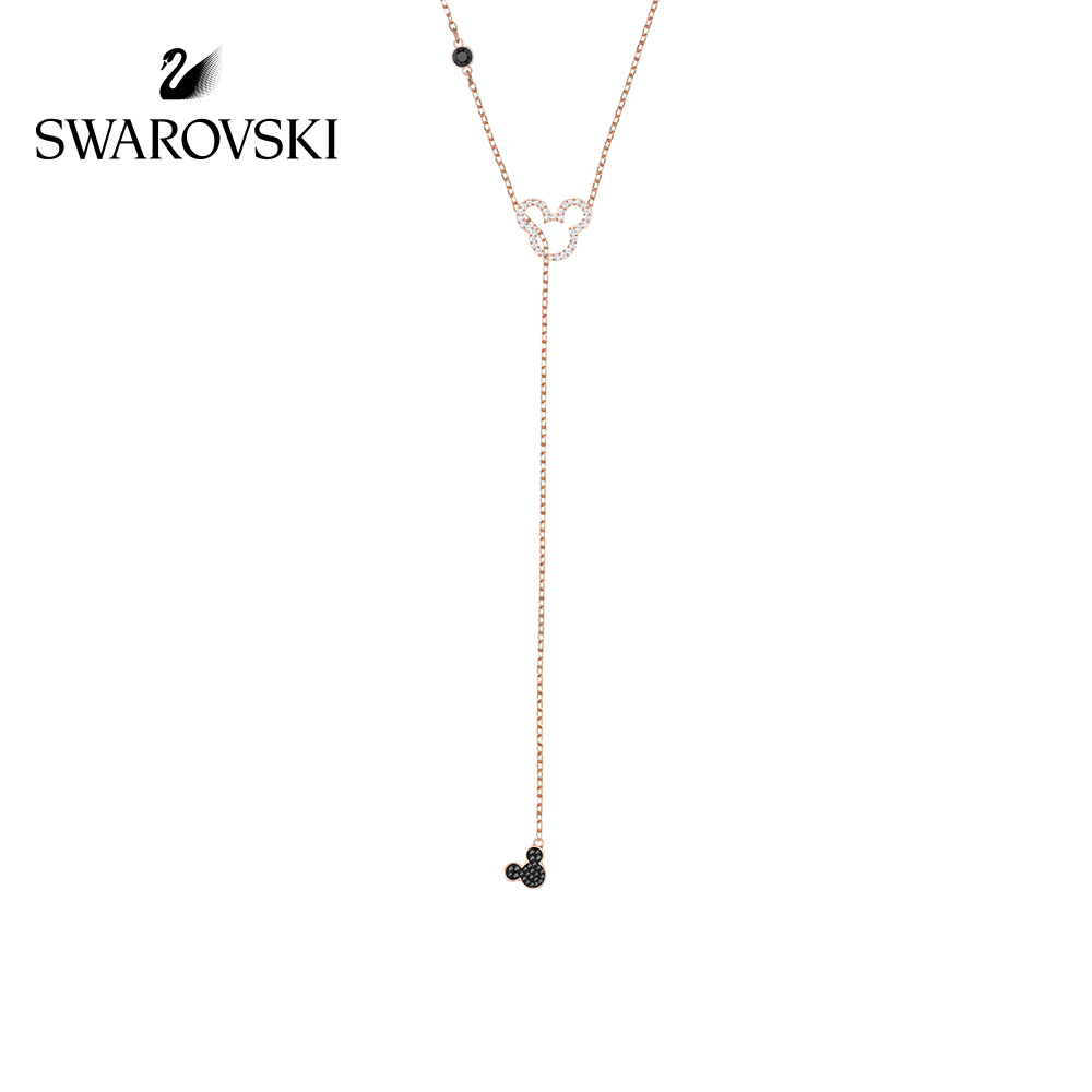Collier en cristal Swarovski MICKEY & MINNIE mignon souris Y-collier pour femmes Long Necklace5429084