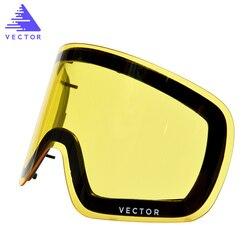 هذا فقط عدسة ل تزلج نظارات Hxj20011 مكافحة الضباب للتبادل المزدوج الطبقات أسطواني UV400 حماية ضوء انتقال