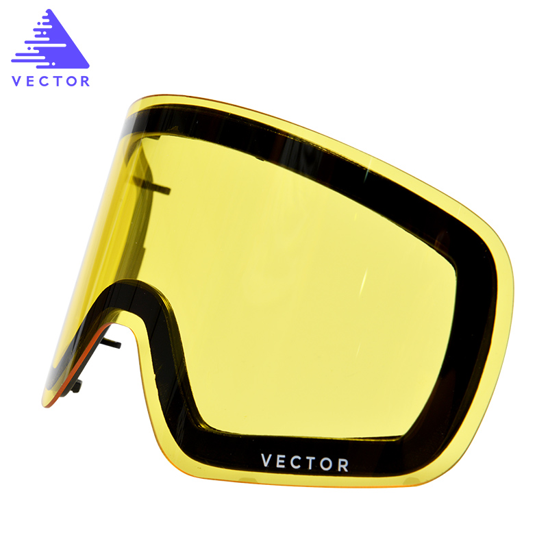 Esta única lente para las gafas de esquí Hxj20011 Transmisión de luz de protección UV400 cilíndrica de doble capa intercambiable antivaho