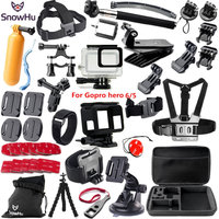SnowHu For Gopro accessories set For Gopro hero 7 6 hero 5 waterproof protective case chest for go pro hero 7 6 5 tripod GS41