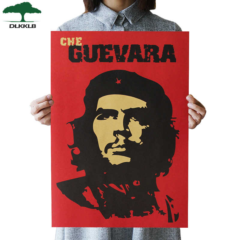 DLKKLB Che Guevara Character Retro Posters Wall Art Nostalgic Old Bar Cafe Vintage Wall Sticker 51.5x36cm Decorative Painting