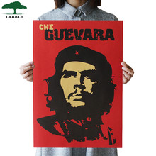 DLKKLB Che Guevara Character Retro Posters Wall Art Nostalgic Old Bar Cafe Vintage Wall Sticker 51.5x36cm Decorative Painting(China)