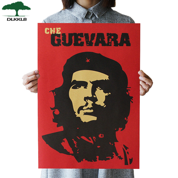 DLKKLB Che Guevara Character Retro Posters Wall Art Nostalgic Old Bar Cafe Vintage Wall Sticker 51.5x36cm Decorative Painting image