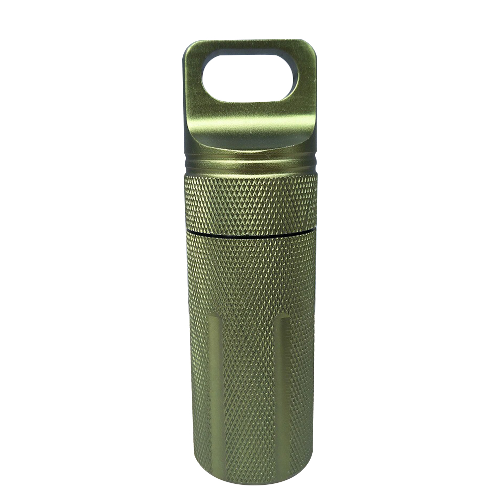 New  50ml Waterproof Capsule Tank Seal Bottle Aluminum Storage Container EDC Survival Tool First Aid Cartridge