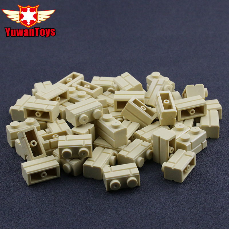 3040 Lego Slope 45° 2x1 Dark Beige Tan x12