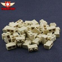 50Pcs City Friend font b Toys b font MOC Beige Wall Brick 1x2 Compatible Accessory Bricklink