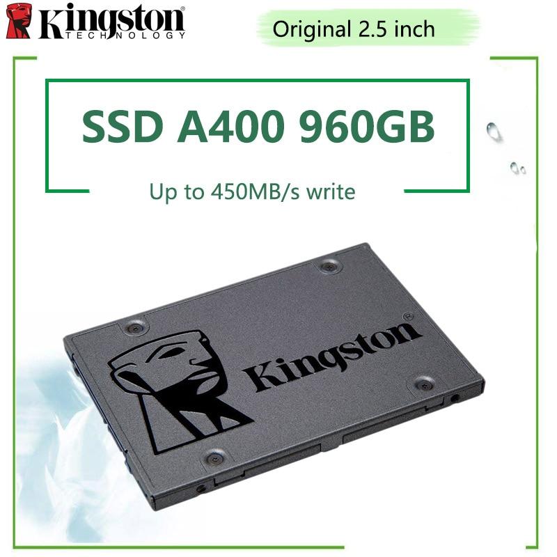 Kingston A400 SSD SATA III 2.5 pouces 960GB 480GB disque SSD interne avec boîtier de disque dur et adaptateur Sata 3 câble USB3.0