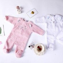 Child woman garments 2018 Boys&Ladies Roupas de bebe cotton new child images props onesie jumpersuit winter child woman romper