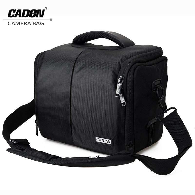 CADeN DSLR Sling Shoulder Camera Bags Digital Photo Video Portable Case Black Waterproof with Rain Cover for Canon Nikon Sony D3