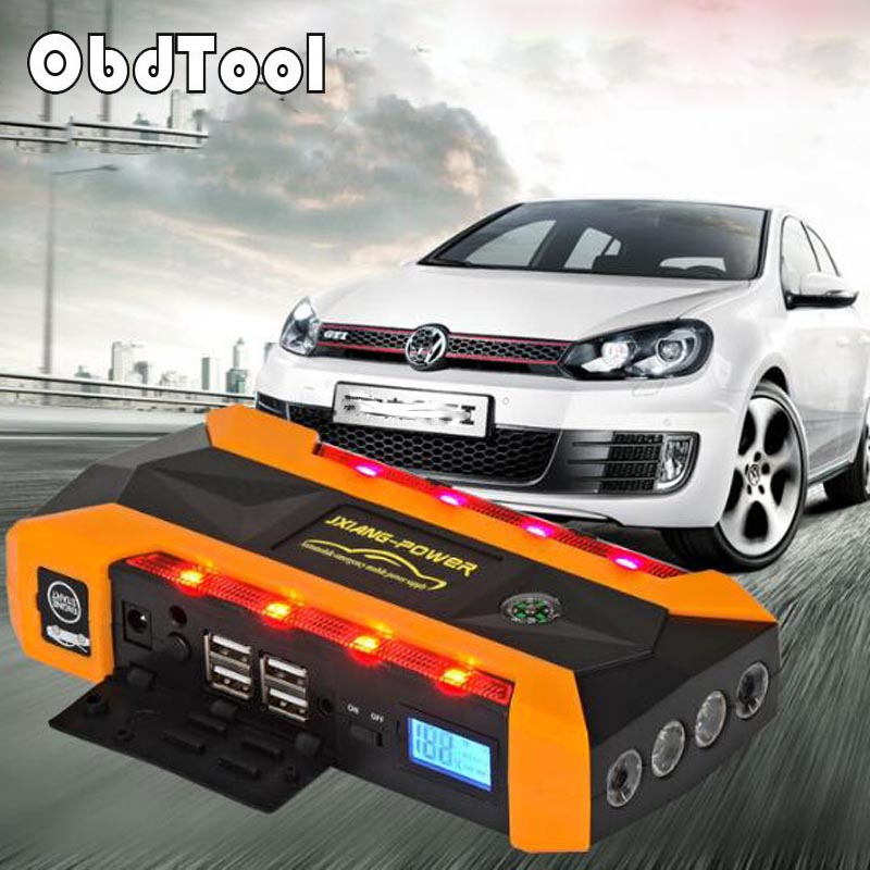 MINI Portable Car Charger Power Bank Emergency Gasoline 6.0L Diesel 4.0L Auto Battery Booster Pack Vehicle Car Jump Starter 2016 high capacity gasoline diesel car jump starte 12v emergency battery charger 4usb portable power bank sos lights free ship