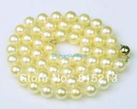 Ddh001564 GENUINE RARE NATURAL GOLDEN AKOYA SALTWATER PEARL NECKLACE 14K GOLD CLASP 28 Discount A0511